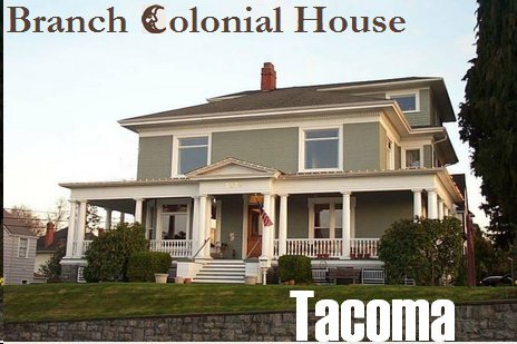 Branch Colonial House Tacoma Washington